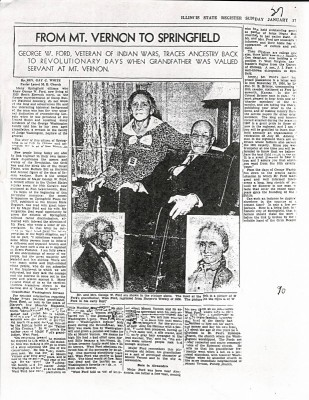 Newspaper Article on Maj. George Ford