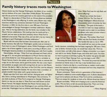 Artilce about Washington Heritage