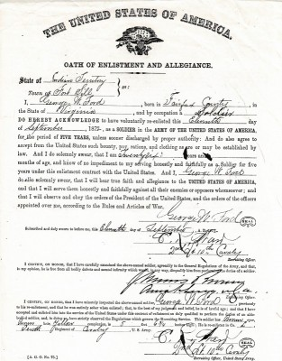 Reinlistment into the 10 Calvary
